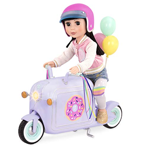 Glitter Girls by Battat  Donut Delivery Scooter for 14-inch Dolls - Toys, Clothes and Accessories For Girls 3-Year-Old and Up