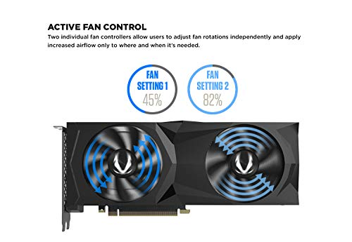 ZOTAC GAMING GeForce RTX 2060 SUPER AMP 8GB GDDR6 256-bit 14Gbps Gaming Graphics Card, IceStorm 2.0, Strong Overclock, Spectra Lighting, ZT-T20610D-10P