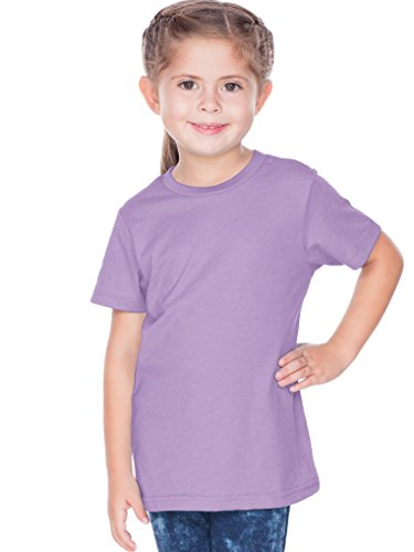 - Kavio! Toddlers Crew Neck Short Sleeve Tee Jersey (Same TJC0440) Lavender 2T