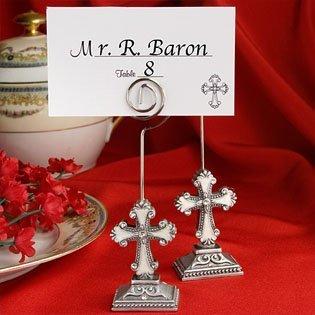 Elegant Cross Design Communion/Christening Placecard Holders, 200 by Fashioncraft