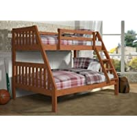 Bunk Bed Twin over Full Mission Style--Cinnamon Finish--Includes Drawers!!!