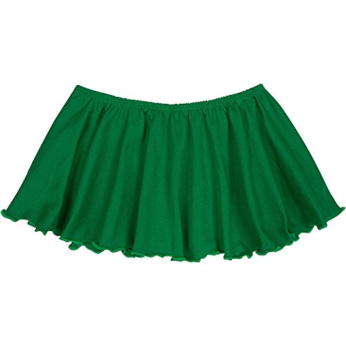 Toddler and Girls Flutter Ballet Dance Skirt Green M (8) by The Leotard Boutique