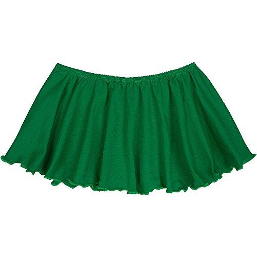 Toddler and Girls Flutter Ballet Dance Skirt Green M (8) by The Leotard Boutique