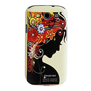 HP Corolla Girl Pattern Crystal Inlaid PC Hard Back Case For Samsung Galaxy S3 I9300