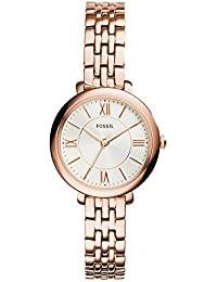 Women's ES3799 Jacqueline Rose Gold-Tone Stainless Steel Watch with Link Bracelet
