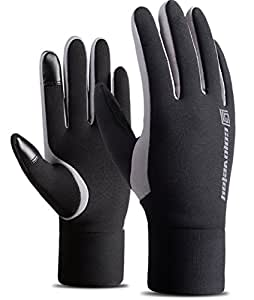 Fantastic Zone Waterproof Touch Screen Gloves Driving Sport Running Cycling Riding Motorcycle Gloves for Men and Women, Fleece Lining Gloves for Cycling, Riding, Running, Driving & Outdoor Sports