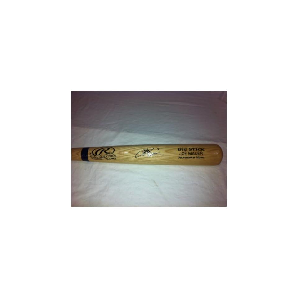 Joe Mauer Minnesota Twins Hand Signed Autographed Rawings Fullsize Bat