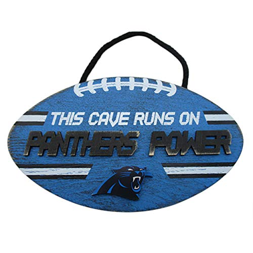 Forever Collectibles NFL Carolina Panthers Football PowerWood, Team Colors, One Size (Panthers Collectibles Carolina)