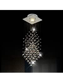 Nice Surpars House Flush Mount Light Crystal Rain Drop Chandelier XW GU LED Bulb
