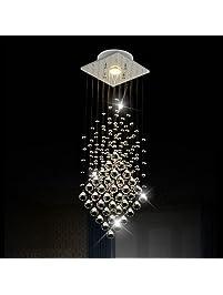 Stunning Surpars House Flush Mount Light Crystal Rain Drop Chandelier XW GU LED Bulb