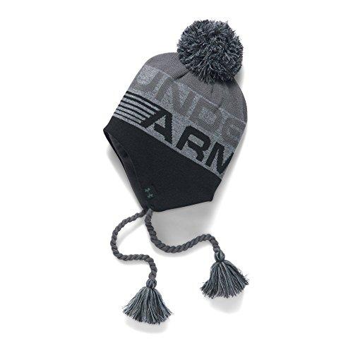 Under Armour Boys' Tassle Beanie, Black (001)/Graphite, One Size