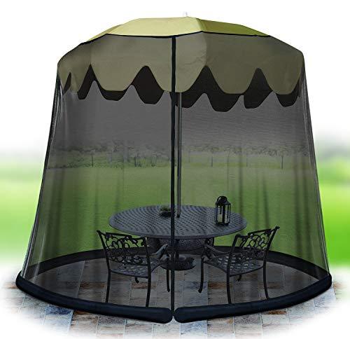 Jobar International 11' Umbrella Table Screen -BLK (Umbrella Netting With)