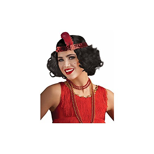 Wig Flirty Adult Flapper (Flirty Flapper Black Wig with)