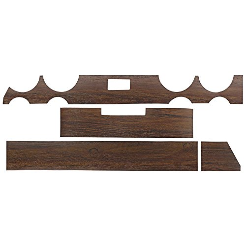 New 1964 Mercury Comet Caliente 4-Piece Inserts Woodgrain Dash Trim Kit (F209)