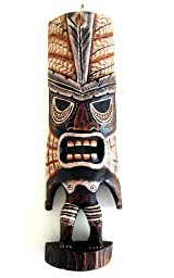 African Tiki Mask Tribal Decor Tiki God Love and Peace, Polynesian - LARGE 16\