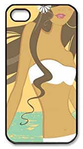 Beach Babe1 PC Case Cover for iPhone 4 and iPhone 4S Black