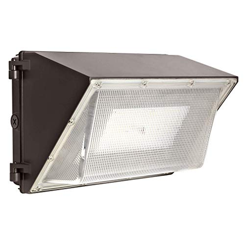 Hykolity 80W 10400lm LED Wall Packs, 1-10V Dimmable Outdoor LED Wall Pack Light Fixture, [250W-400W MH/HPS Equivalent] Dusk to Dawn Photocell Optional, 5000K DLC Complied