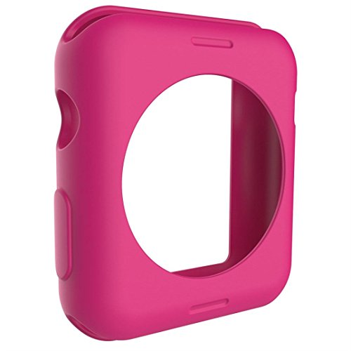 Lisin Ultra-Slim Cute Silica Gel Protect Case Cover For Apple Watch Series 1 38mm Smart Watch Accessories watchband (pink)