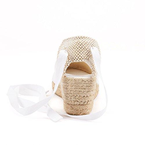 prodotte donna aperte a tacco in Spagna Bianco in Scarpe da Viscata Bianco punte nxTHq