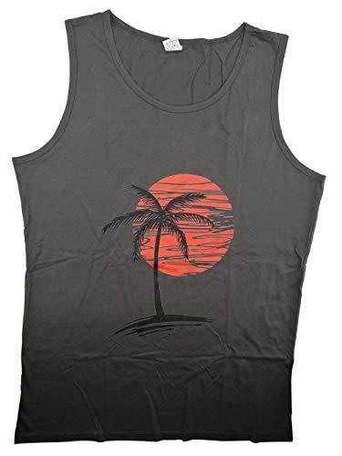 Tee Adult Baseball Heavyweight - Palm Tree Mens Premium Tanks Tops T-shirt