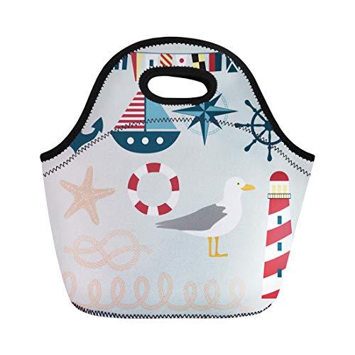 Life Preserver Sailor Purse - Semtomn Neoprene Lunch Tote Bag Sailor
