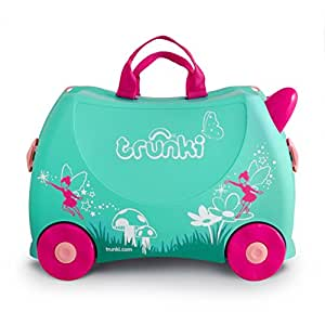 Trunki Children's Ride-On Suitcase & Hand Luggage: Flora The Fairy (Green)
