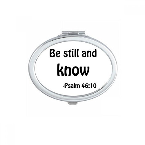 DIYthinker Be Still And Know Christian Quotes Oval Compact Makeup Mirror Portable Cute Hand Pocket Mirrors Gift by DIYthinker