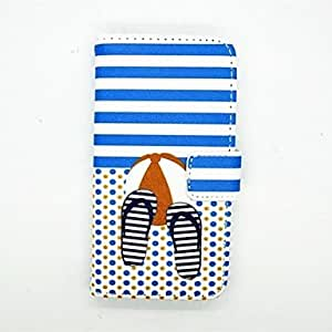 QJM 20150511 Slippers Pattern PU Leather Full Bady Case With Card Slot and Stand for S4 Mini I9190