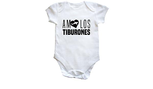 HippoWarehouse AMO LOS TIBURONES body bodys pijama niños niñas unisex: Amazon.es: Ropa y accesorios