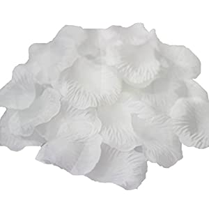 AFrom Here Silk Rose Petals Wedding Flowers Favors 500PCS (Snow White) 27