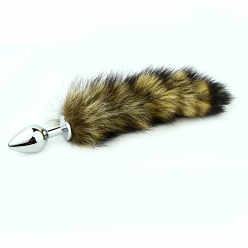 Cute Stainless Steel Fox Tail Anal-Plug Toy for Lover Women (small)