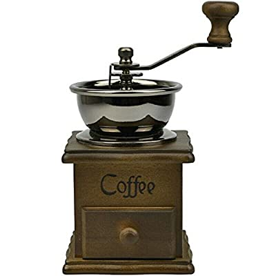 High Quality Manual Coffee Grinder Retro Wood Design Coffee Mill Maker Grinders Coffee Bean Grinder Hand Conical Burr from Chaina