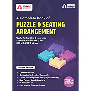 A Complete Book for Puzzles & Seating Arrangement for BANK PO | IBPS PO | SBI | RBI and other Bank Exams 2020 (English…