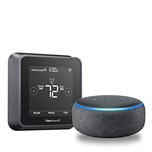Price comparison product image Echo Dot (3rd Gen) - Charcoal + Honeywell T5+ Smart Thermostat