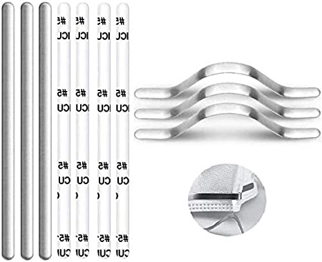 200Pcs Aluminum Nose Bridge Strip Face DIY Making Accessories for Sewing Crafts Flat Aluminum Wire Metal Strips Straps for Handmade Crafting Making Nose Bridge Clip