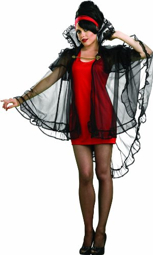 Women Cape Vampire (Rubie's Costume Sheer Intrigue Lace Cape Costume, Black, One)