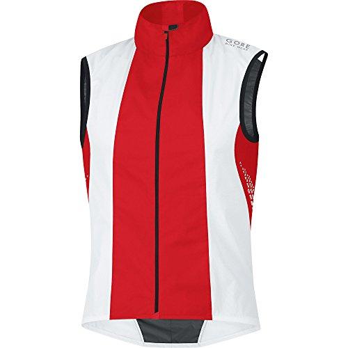 Gore Bike Wear Xenon 2.0 Active Shell - Chaleco cortavientos para hombre/ unisex blanco / rojo