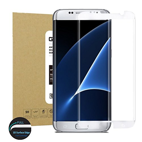 Galaxy S7 Edge Glass Screen Protector[2Gen],Acoverbest[Full Coverage]Tempered Glass for Samsung Galaxy S7 Edge [3D Curve][9H Hardness][Anti-Scratch][Bubble Free][Ultimate Clarity](Clear)