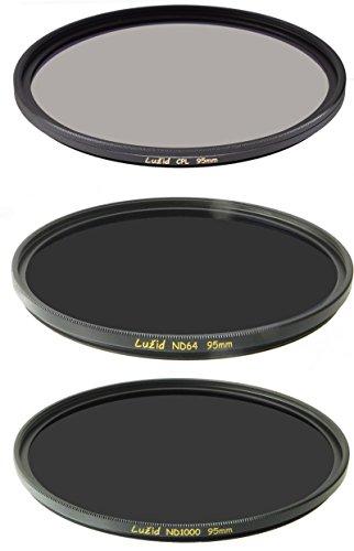 LUŽID Set of 3 95mm CPL ND1000 ND64 MC Filter German Schott Glass Brass Frame Luzid 95 - Polarising Glasses Filter