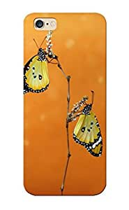 Anettewixom Faddish Phone Two Yellow Butterflies Case For Iphone 6 Plus / Perfect Case Cover