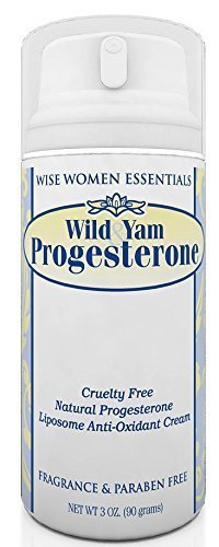 Wise Essentials Wild Yam & Progesterone Cream With Chaste Tree Berry - For Menopause and Mid life Changes. 3 oz - Paraben Free - Fragrance Free -