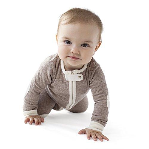 baby deedee 1 Piece Long Sleeve Footless Romper, Heather Mocha, 6-12 Months