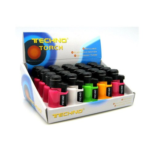 TECHNO BEACON REFILLABLE HANDHELD POCKET TORCH ASSORTED COLORS PACK OF 20 by TECHNO BEACON