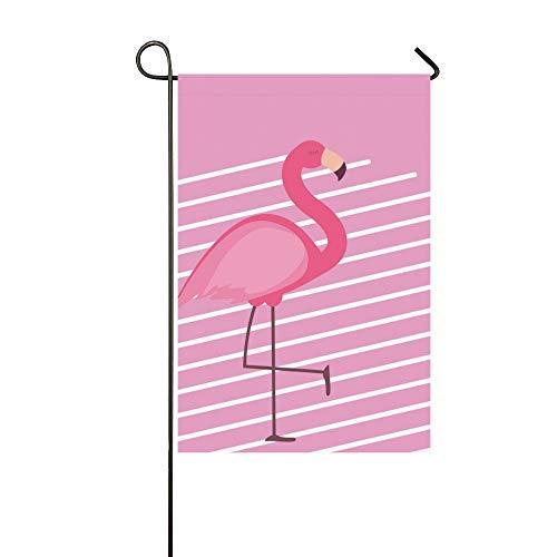 WIEDLKL Home Decorative Outdoor Double Sided Cute Pink Flamingo Summer Garden Flag House Yard Flag Garden Yard Decorations Seasonal Welcome Outdoor Flag 12x18in Spring Summer Gift from WIEDLKL