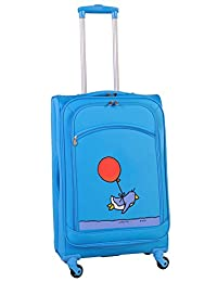 Ed Heck Flying Penguin Spinner Luggage 25-Inch, Sky Blue, One Size