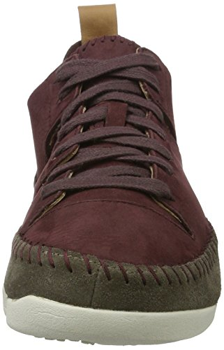 Clarks Originali Damen Trigenic Flex. Sneaker Violett (burgundy Nubuck)