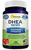 Pure DHEA (100mg Max Strength, 200 Capsules) to Promote Balanced Hormone Levels
