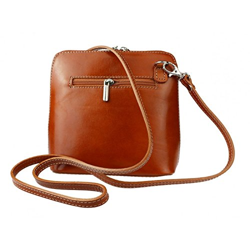 Genuine Light Shoulder Italian Bag Vera Tan or Mini Pelle Body Cross Leather Bag FUqrFxBf