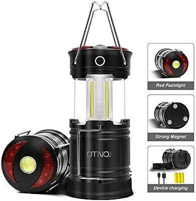 Linterna LED Acampada, Lampara de Camping Recargable COB LED 2 Piezas Portátiles Faroles Exterior Plegable Impermeable Bateria Cargada para Camping, Luz de Emergencia, huracanes, corte de energía: Amazon.es: Bricolaje y herramientas