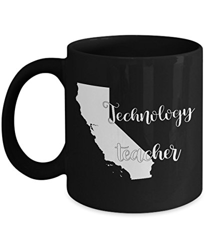 Angeles 1920's Costumes Los (California Technology Teacher Home State Back To School Teacher Day Coffee Mug Gift 11oz)